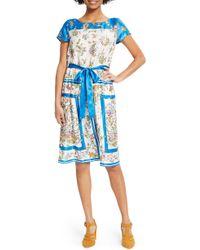ModCloth - Scarf Print Satin Dress - Lyst