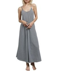 Volcom - Lil Stripe Maxi Dress - Lyst