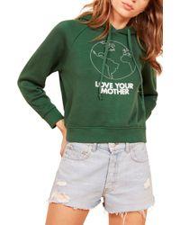 Reformation - Coronado Hooded Sweatshirt - Lyst