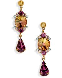 Sorrelli - Regal Rounds Crystal Drop Earrings - Lyst