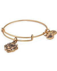 ALEX AND ANI - Because I Love You Granddaughter Charm Bangle - Lyst