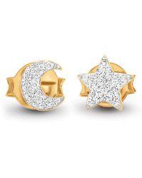 Missoma - Pave Moon & Star Stud Earrings - Lyst