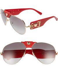 5e40e8277c6 Lyst - Versace Biggie 53mm Round Sunglasses in Black