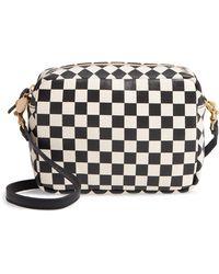 Clare V. - Midi Sac Check Leather Shoulder Bag - - Lyst