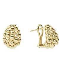Lagos - Caviar Gold Bold Medium Omega Clip Earrings - Lyst