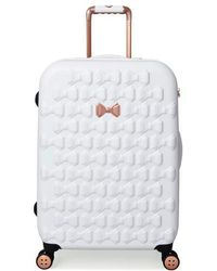 Ted Baker - Medium Beau Bow Embossed Four-wheel 27-inch Trolley Suitcase - - Lyst