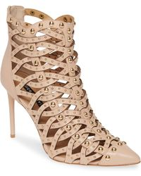 Alice + Olivia - Reiy Studded Cage Bootie - Lyst