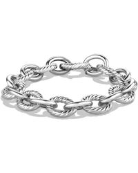David Yurman - Sterling Silver Chain Link Bracelet - Lyst