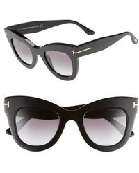 Tom Ford - Karina 47mm Cat Eye Sunglasses - - Lyst