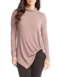 a743e2f4bef9 Lyst - Karen Kane Pullover Metallic Open Knit Sweater in Metallic