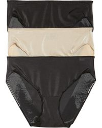 Tc Fine Intimates - 3-pack Hipster Panties, Black - Lyst