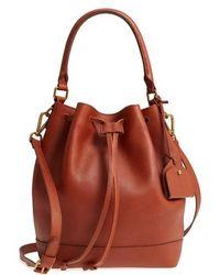 Madewell - Lafayette Leather Bucket Bag - Lyst