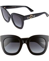 Gucci - 49mm Cat Eye Sunglasses - - Lyst