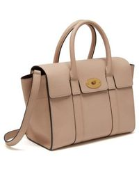 dac8aee857 Lyst - Mulberry Pre Owned Bayswater Satchel Leather Small in Brown