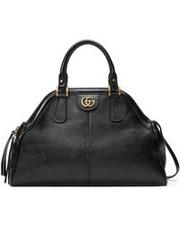 c2b9b963a29 Lyst - Gucci Soft Signature Leather Top-Handle Bag in Black