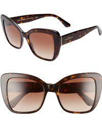 b6f96c6a0e Dolce   Gabbana - 54mm Gradient Butterfly Sunglasses - Havana Gradient -  Lyst