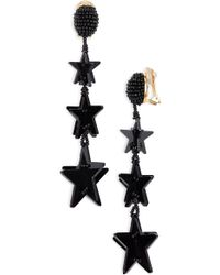 Oscar de la Renta - Falling Stars Drop Earrings - Lyst