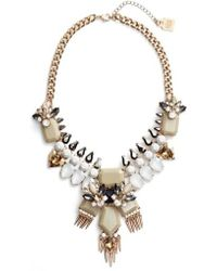 Adia Kibur - Crystal & Spike Statement Necklace - Lyst