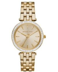Michael Kors - Michael Kors 'mini Darci' Round Bracelet Watch - Lyst