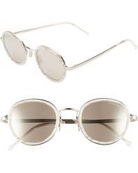 Cutler & Gross - 48mm Polarized Round Sunglasses - - Lyst