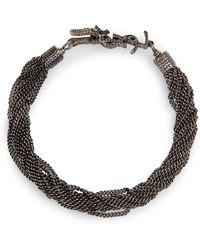 Saint Laurent - Loulou Chain Bracelet - Lyst
