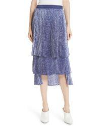 CLU - Floral Pleat Skirt - Lyst