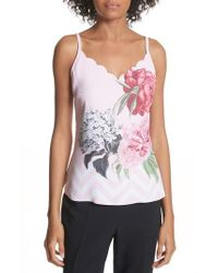 4c3d00363f432 Ted Baker - Palace Gardens Scalloped Camisole - Lyst