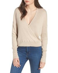Leith - Rib Wrap Sweater - Lyst