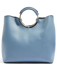 TOPSHOP - Stef Metal Handle Tote Bag - - Lyst