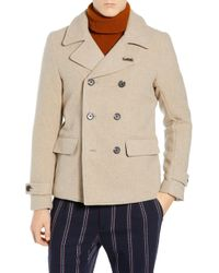 c5738af38a407 Lyst - Scotch   Soda Wool Pea Coat for Men