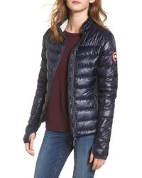 Canada Goose - 'hybridge Lite' Slim Fit Mixed Media Down Jacket - Lyst