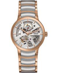 Rado - Centrix Automatic Open Heart Bracelet Watch - Lyst