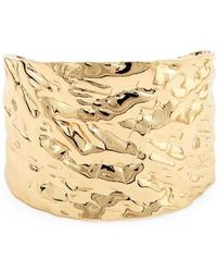 Sole Society - Textured Metal Cuff Bracelet - Lyst