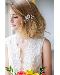 Brides & Hairpins - 'caprice' Jeweled Hair Comb - Lyst