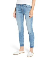 7 For All Mankind - 7 For All Mankind The Ankle Release Hem Skinny Jeans - Lyst