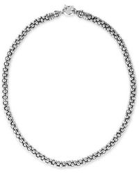 Lagos - Sterling Silver Caviar 7mm Rope Necklace - Lyst