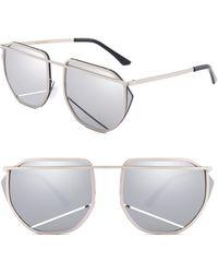 SUNNYSIDE LA - 67mm Mirrored Sunglasses - - Lyst