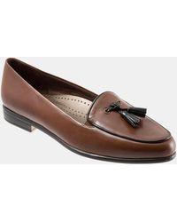 Trotters - Leana Tassel Block Heel Loafers - Lyst
