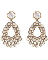 Asha - Flower Chandelier Earrings - Lyst