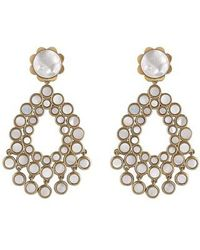 Asha - Flower Chandelier Earrings - Lyst