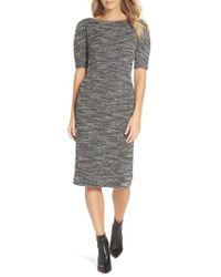 Maggy London - Textured Arc Sheath Dress - Lyst