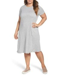 Two By Vince Camuto   Delicate Stripe T-shirt Dress   Lyst