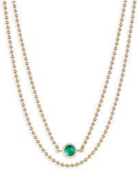 Jennifer Zeuner - Eliza Double Strand Necklace - Lyst