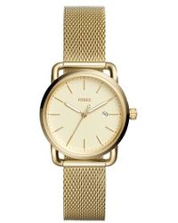 Fossil - The Commuter Mesh Strap Watch - Lyst