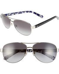 Kate Spade - 'dalia2' 58mm Aviator Sunglasses - Lyst