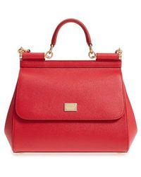 Dolce & Gabbana - 'small Miss Sicily' Leather Satchel - Lyst