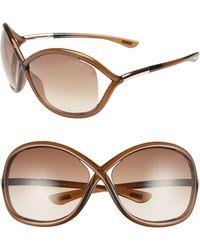 826569dd743b Tom Ford -  whitney  64mm Open Side Sunglasses - Dark Brown - Lyst