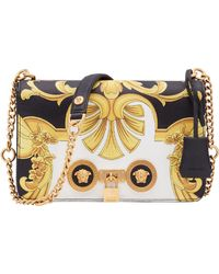 ea2f37d13e Versace Small Quilted Leather Icon Small Shoulder Bag in Red - Lyst