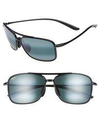 Maui Jim - Kaupo Gap 61mm Polarizedplus2 Sunglasses - Gloss Black/ Neutral Grey - Lyst