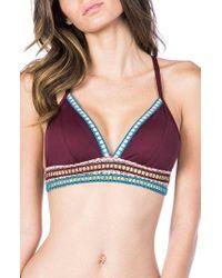 La Blanca - Running Stitch Triangle Bikini Top - Lyst